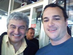 Marcos Pontes e Alex Hubner